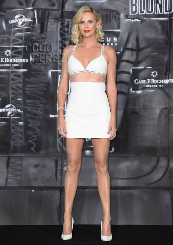 Charlize Theron Serving Face, Legs, Hair, Cleavage, Arms, Midriff, Basically EVERYTHING!