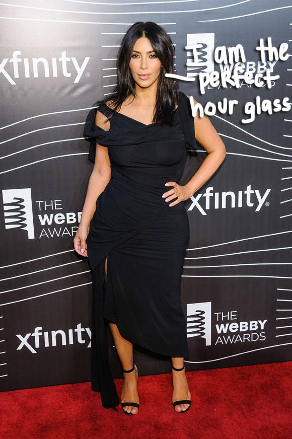 Kim Kardashian Proudly Flaunts Her Hourglass Figure While Announcing Her Waist Size!