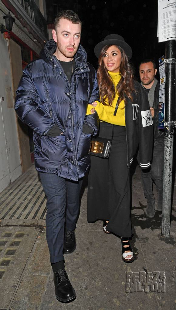 Sam Smith Resurfaces With Pal Nicole Scherzinger In London!