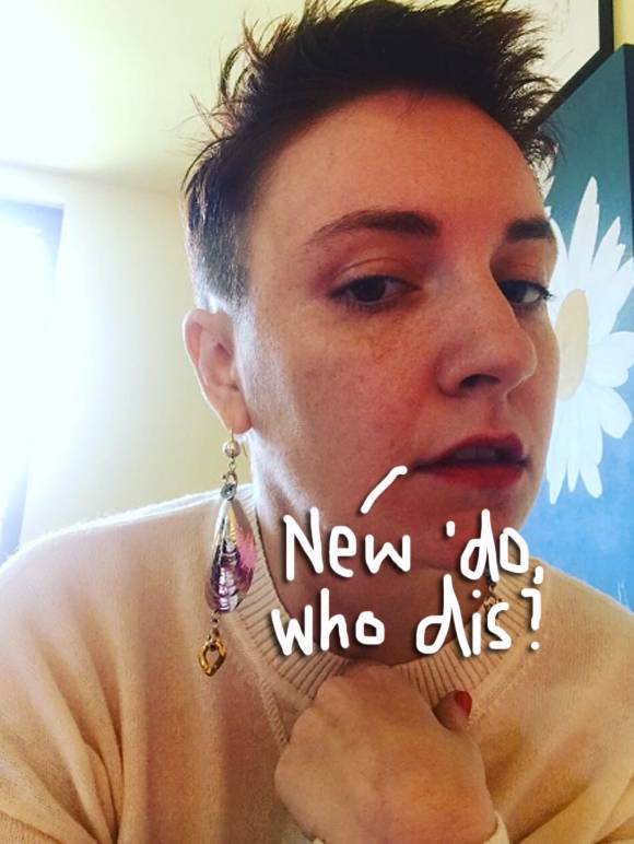 Lena Dunham Debuts Her Shortest Haircut EVER!