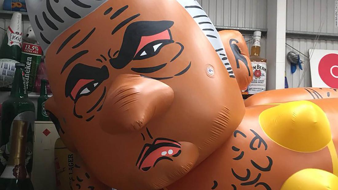 Bikini-clad blimp of London Mayor Sadiq Khan to fly over UK capital