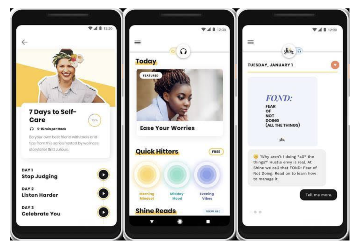 Shine brings its female-focused self-care app to Android