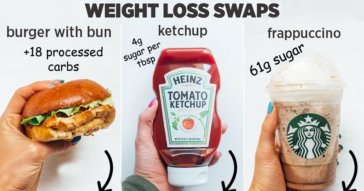 Woman Shows How Easy It Is To Lose Weight By Making 20+ Genius Food Swaps