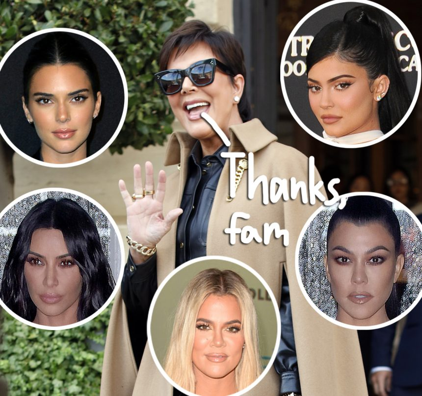 Kylie Jenner's Birthday 'Tribute' To Kris Jenner Is HILARIOUS! - Perez Hilton