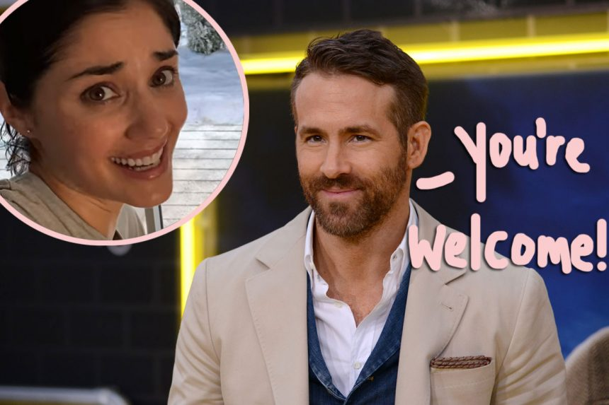 Ryan Reynolds Recruits The 'Peloton Wife' For A HILARIOUS Spoof On The Stationary Bike Ad - WATCH! - Perez Hilton