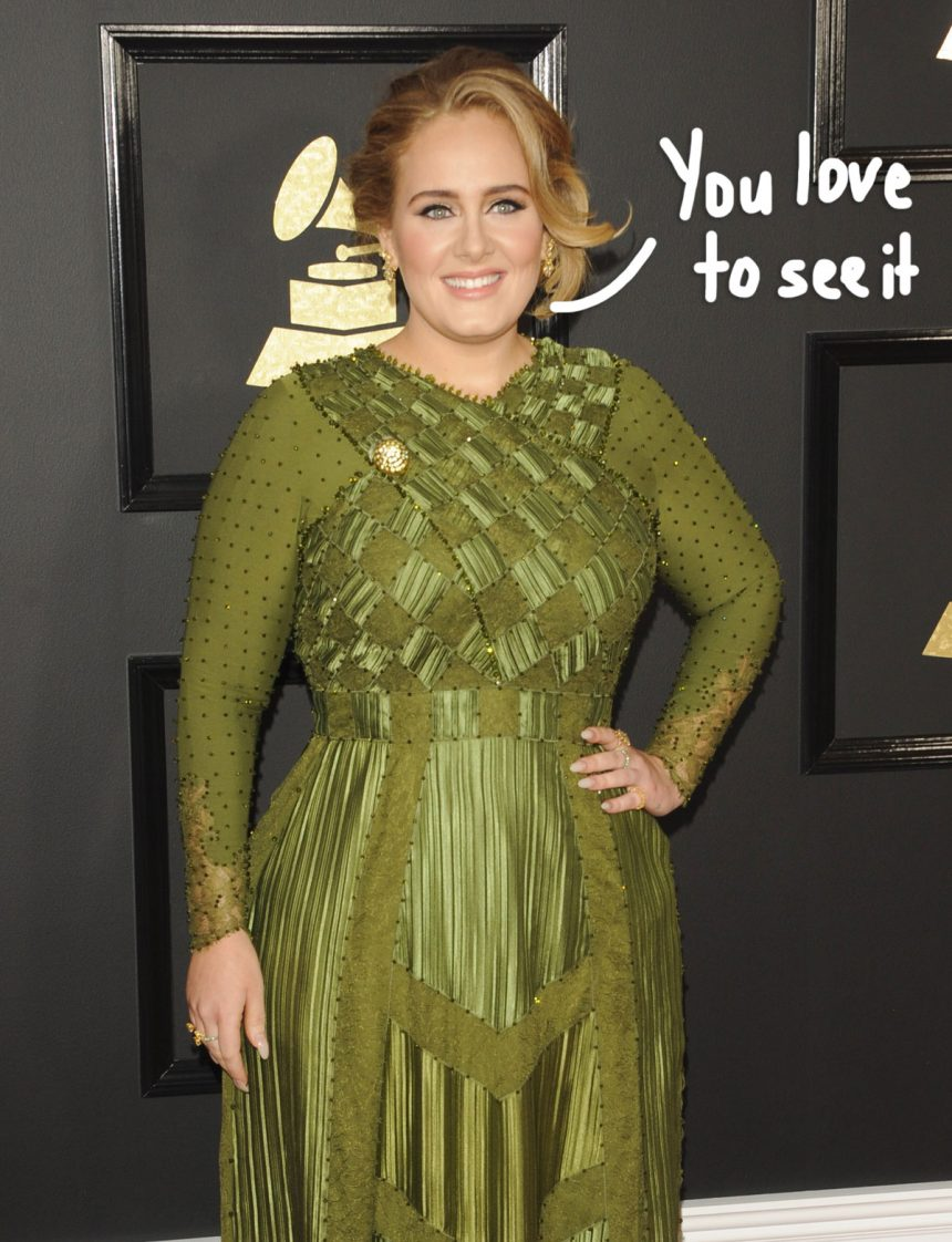 Adele Says She Lost 'Like 100 Pounds' During Chat With A Fan While On Vacation! – Perez Hilton