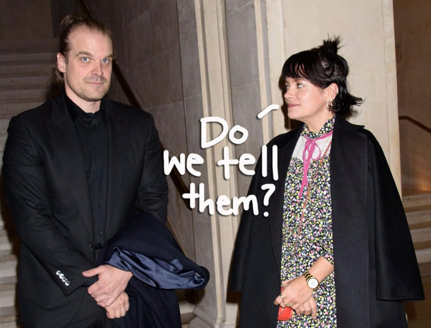 Did Lily Allen& David Harbour Secretly Get Married !?! – Perez Hilton